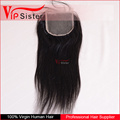 brazilian human hair sew in weave human hair extension remy hair extension top 4*4 lace closure straight virgin