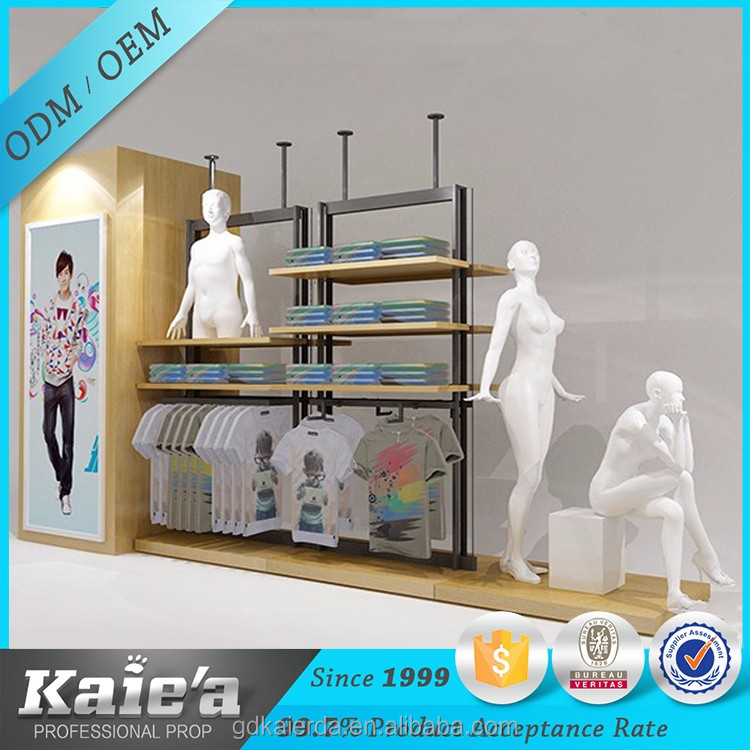 boutique display cabinet for clothes/used clothing display cabinets