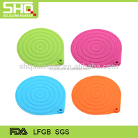 Manufacture supplier custom silicone mat colorful table pot mat