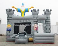 Newly design inflatable cartoon bounce house with water slide for sale Z2048