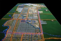 Modern City planning Model with Crystal and lightings for Urban Construction Planning Bureau`