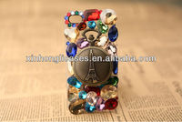 watch alloy gem diamond phone shell for iphone5 case
