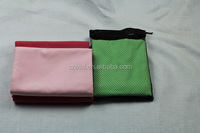 superior quality gym suede sports towel with net bag