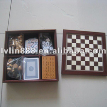 7 in 1 wooden chess game set for travel