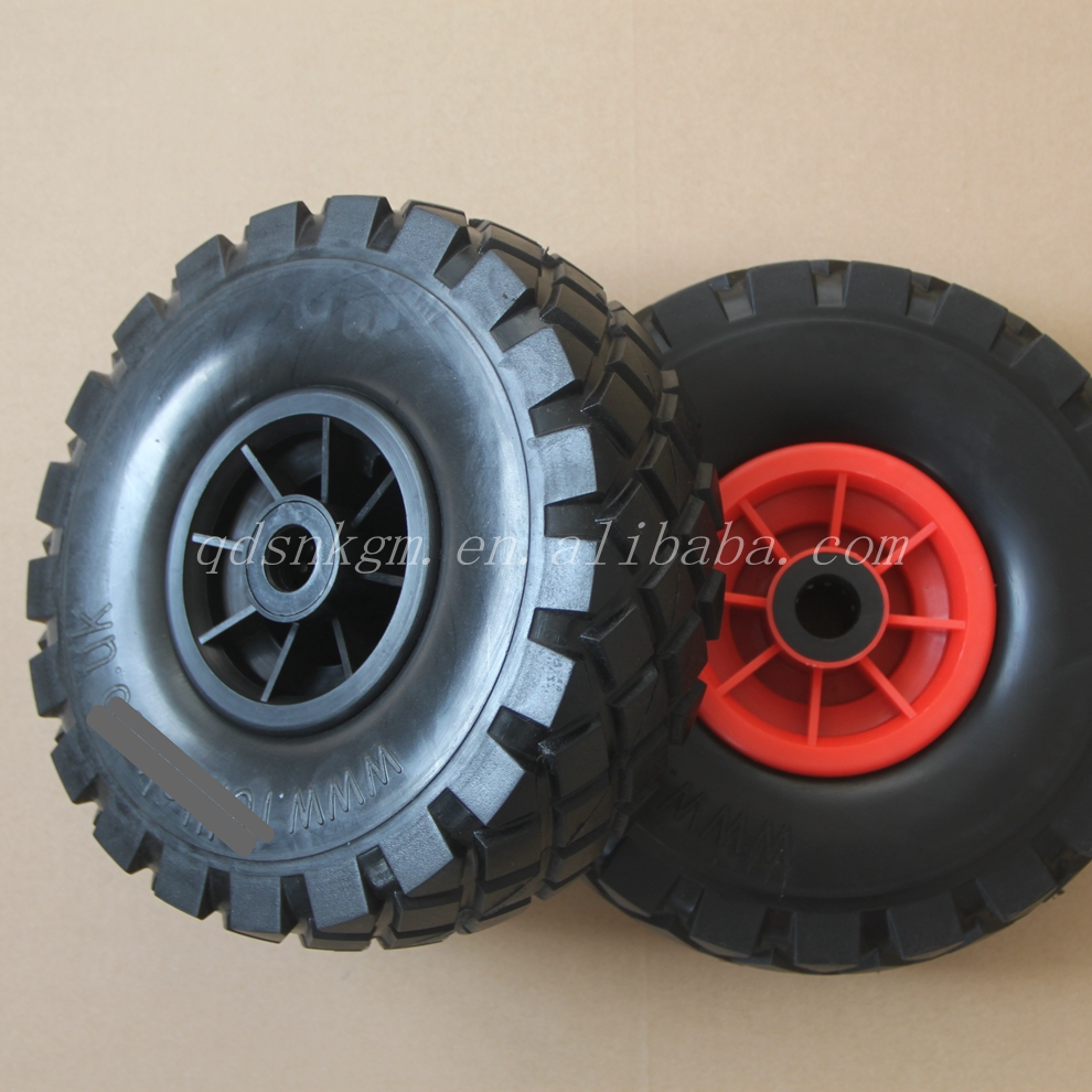 "4.10/3.50-4 14"" 24"" Polyurethane solid Foam Farm Wagon Wheels"