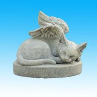 Cat Angel Stone Pet Memorial Remembrance Garden Marker