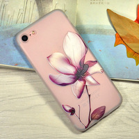 Wholesale cheap price phone accessories nature flower soft TPU mobile phone case for iPhone 6s 7 8 Plus X