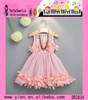 Summer Pink Ruffle Dress Sleeveless Pink Ruffle Dress