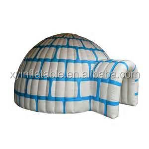 hot sale blue brick Inflatable Igloo dome for snow season