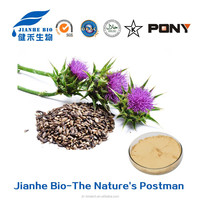 Milk Thistle Seed Extract Powder Dry Silymarin/Silybin Anti Cancer Benefit Herbal Extract Water Soluble Milk Thistle Extract