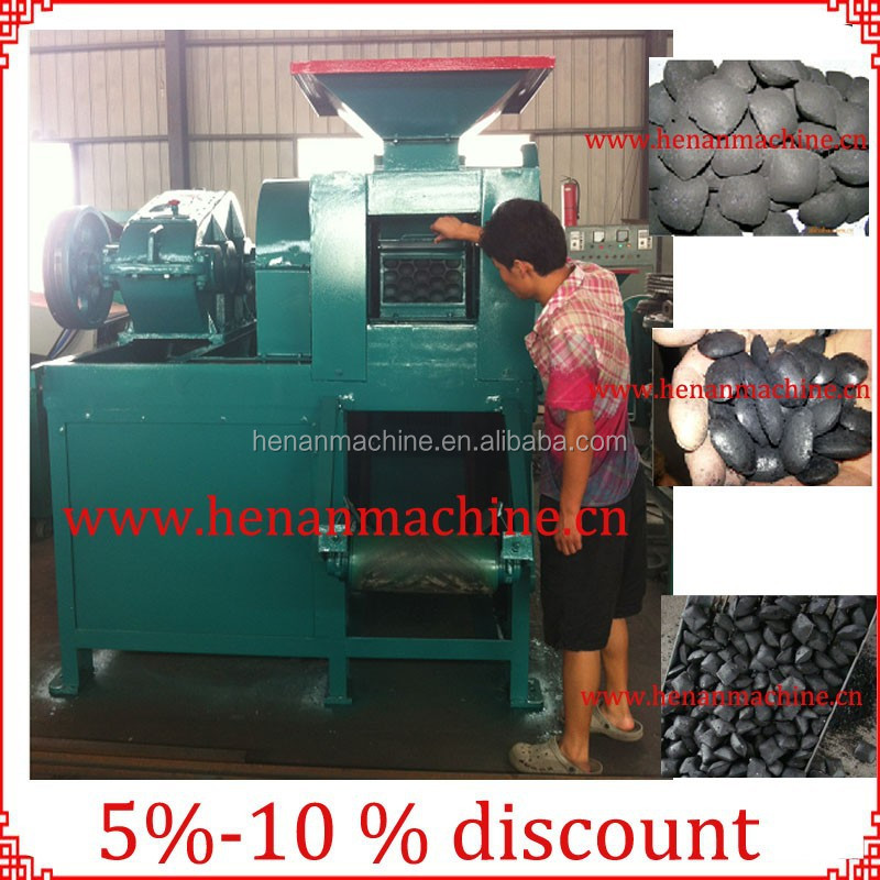 Save raw materials and High-return charcoal briquette roller-press machine