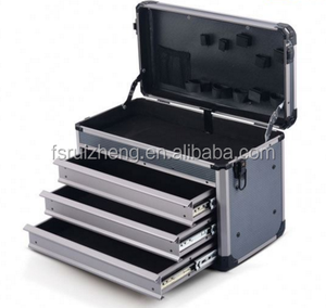 Aluminum us general truck tool box with roller guide drawers