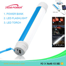 unique led flashlight camping power bank charger, emergency portable led torch light power bank 5600 mah