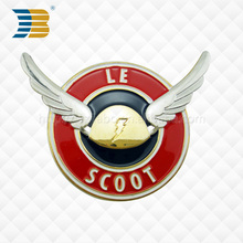 custom3D soft enamal wing car badge with 3M adhesive