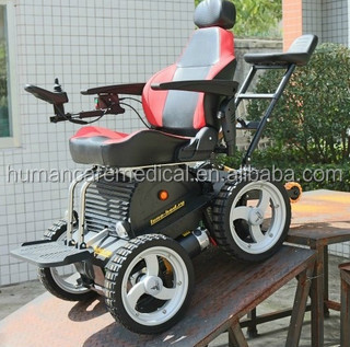 Easy to carry foldable solid rubber tires power wheelchair