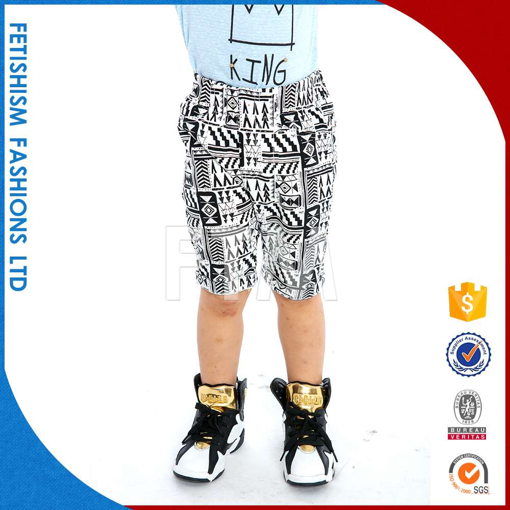 Popular custom board kids cotton denim boys plaid shorts