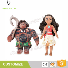 (New Cartoon MOVIE) Action Figure Moana Princess Maui Demigod Plush Doll For Kids Toy