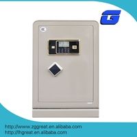 Electronic safe box locker with LCD time lock