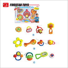 Cheap Colorful Infant Bell Ring Toys Baby Rattle Set