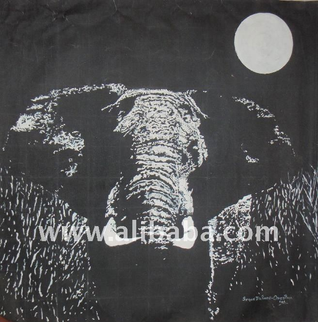 African Oil Painting (African Elephant)