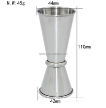 Bar measures tools stainless steel measuring cup set 20 50ml jiggers