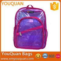 Pink Creative Special PVC Kid School Bag Clear PVC Backpack