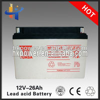 sealed gel solar batteries 26ah semi traction battery