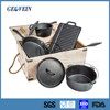 China manufacturer outdoor cast iron camping cookware set