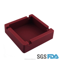 Square protable silicone ashtray for business room and home