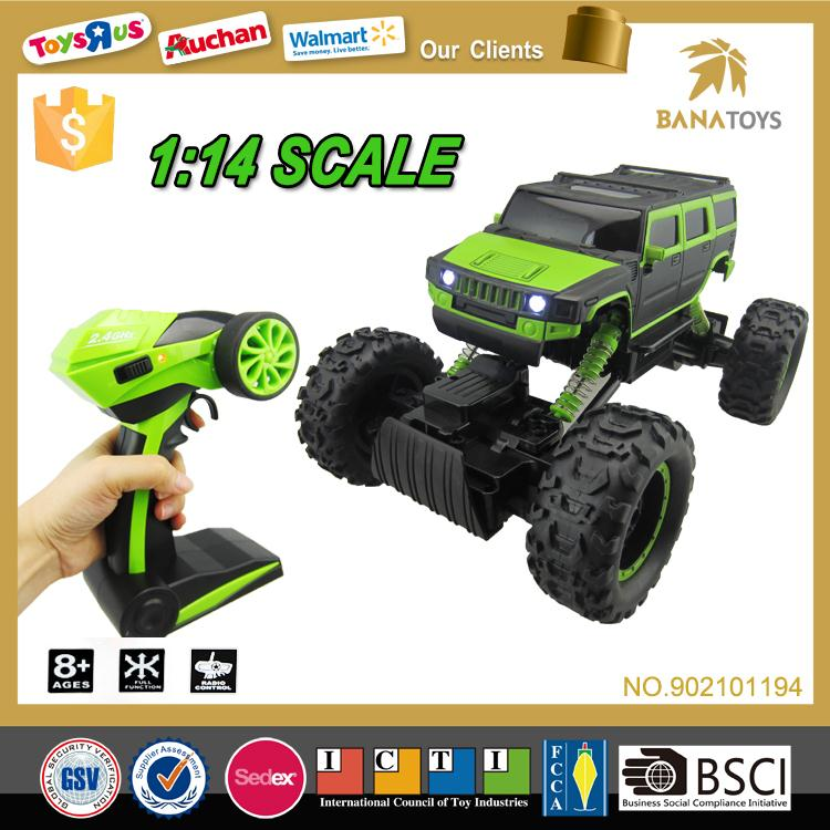 Free Shipping High speed big toys 1 14 rc stunt toy car 360 degrees 2.4G remote control car