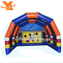 Inflatable Football Goal Speed Cage, Inflatable Soccer Shooting Target Games for Events