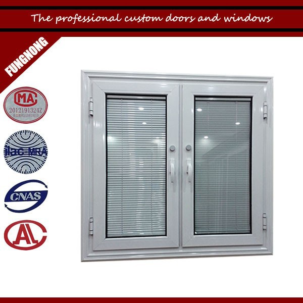 Guangzhou aluminum jalousie window manufacturer custom apartment window with blinds