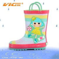 2015 children wellies nude girl rubber rain boots wholesale