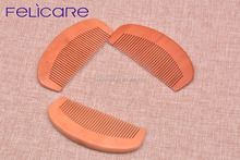 Felicare natural wood color hair comb knife in bulk handmade