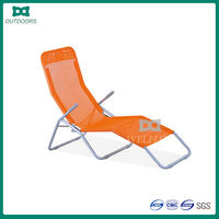 steel tube teslin fabric outdoor folding beach lounge chair