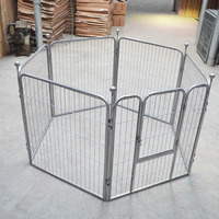 Square Tube Painted Big Dog Cage Six Pieces Stainless Steel