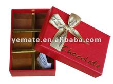Fancy paper hot stamping luxury chocolate boxes wholesale, cardboard edible chocolate boxes,chocolate paper packaging box - red