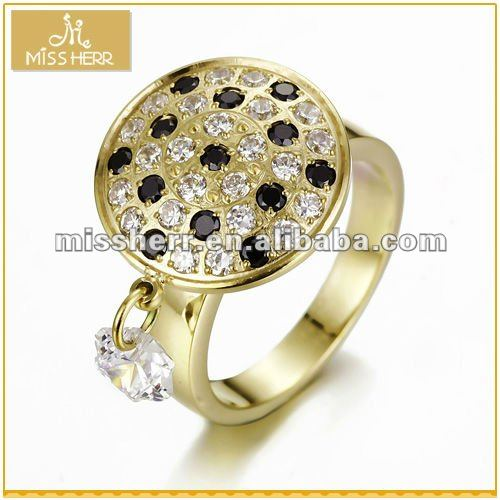 Wholesale fashion large stone rings settings yellow gold only