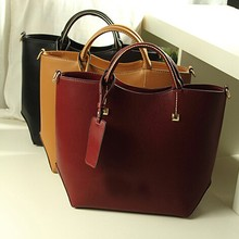 Wholesale fashion geniune leather handbag ladies tote handbag leather shoulder bag from China