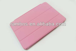 For iPad Mini Leather Smart Cover with Back case