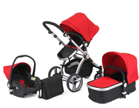 Deluxe Baby Stroller 3-in-1High Landscape Baby Pram Travel System With Chinese Factory