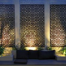 Laser Cut Corten Steel Sheets For Garden Screen With Frame