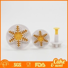 2016 New Snowflake Fondant Sugar Plunger Cookie Cutter for Cake decorating fondant tools
