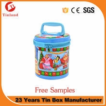 New Design Multifunction Metal Storage Box Candy Tin Can Metal Tin Box With Zipper Closure