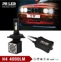 Brightest Luxeon-C Led H4 / 2 x 40W 4000lm P8 Auto LED Conversion Headlights