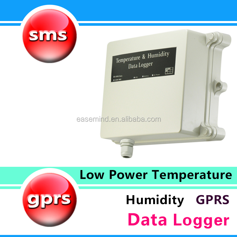 Low Power Temperature Humidity GPRS data acquisition system weather alert Data Logger soil moisture sensor