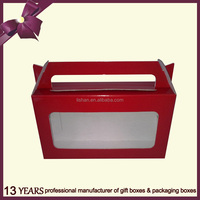 Recycled Corrugated Packaging Folding Paper Box with Handle