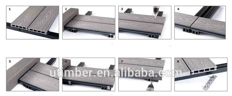 WPC decking for outdoor products 140*25mm