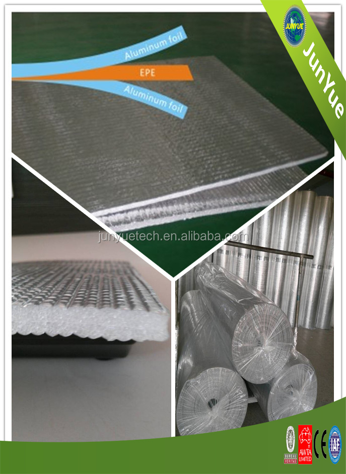 Aluminum foil perforated EPE foam heat insulation