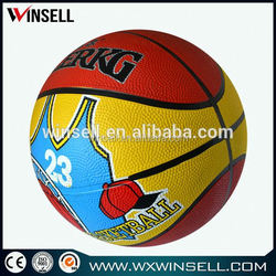 Hot selling nice looking magic rubber basketball size5